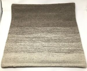 """Pottery Barn Ombre Undyed Wool Pillow Cover Brown Zipper Closure Square 20"""" $24.99"""