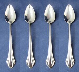 Oneida Stainless Flatware REMBRANDT Fruit Spoons DISTINCTION - SET OF FOUR