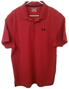 Under Armour Heat Gear Loose Fit Golf Polo Shirt Large L Pink $26.99