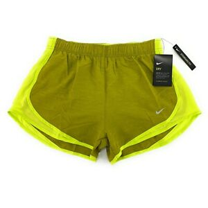 Nike Women's Dri Fit Tempo Cyber Green 3 Standard Fit Running Shorts 831558 389 $19.97