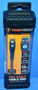 Tough Tested Pro Cable USB C to USB A TT PC8 C2A $21.99