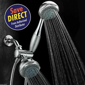 Hydroluxe® Deluxe 24 setting 3 way Overhead Handheld Shower Combo Chrome