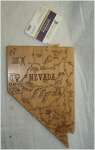 New Totally Bamboo Nevada State-Shaped Cutting & Serving Board *LOOK*
