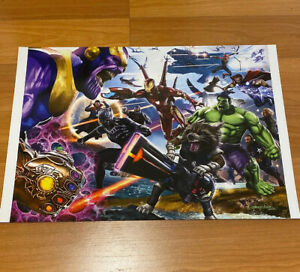 Greg Horn Comic Art Lithograph Print Infinity War Guardians 13x19 Limited 1000