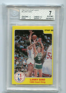 Larry Bird 1986 Star Court Kings BGS 7 ABC153