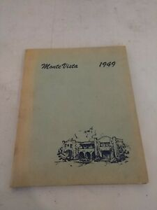 Monte Vista 1949 Christian School Yearbook. Reclaimed as found condition.