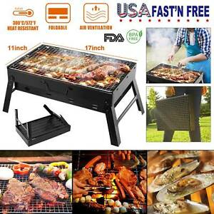 BBQ Barbecue Grill Folding Portable Charcoal Outdoor Camping Patio Stove US