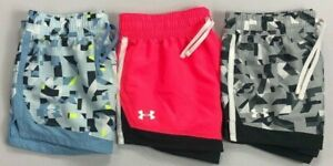Girl's Youth Under Armour Heat Gear Loose Polyester Shorts $16.99
