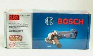 Bosch 18V Cordless Li-Ion 4-1/2 in. Angle Grinder GWS18V-45 New (Tool Only)