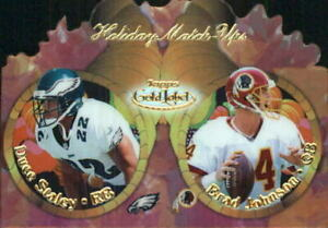 2000 Topps Gold Label Holiday Match Ups Fall Football Card #T11 Staley Johnson