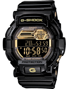 Casio G Shock Men's Quartz Alarm Black Digital Timer 51mm Watch GD 350BR 1