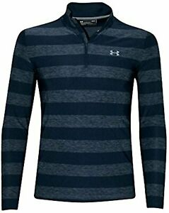 Under Armour Men's Playoff Long Sleeve Polo 1 4 Zip Shirt Striped Heather $70.00