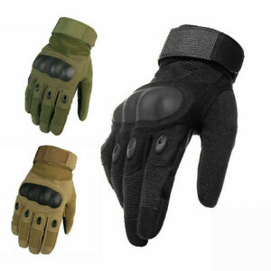 Army Military Combat Hunting Shooting Tactical Hard Knuckle Full Finger Glov