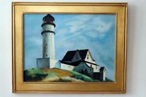 Hopper Style Lighthouse Painting $275.00