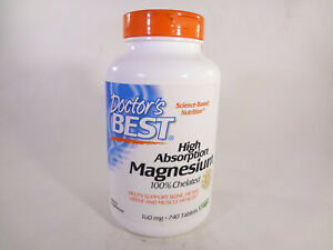 Doctor's Best High Absorption Magnesium 100 mg 240 Tablets {VS D}