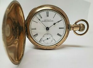 ANTIQUE HUNTING CASE POCKET WATCH AMERICAN WALTHAM WATCH CO ANTIQUE COLLECTIBLE
