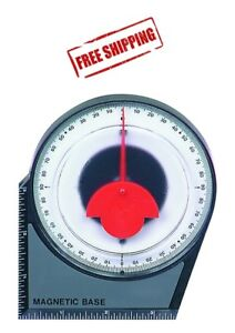 Dial Gauge Angle Finder Magnetic Protractor with Conversion Chart $6.64