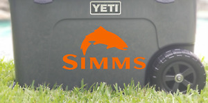 Simms Fishing Die-Cut Vinyl Decal Sticker    19 Colors Available