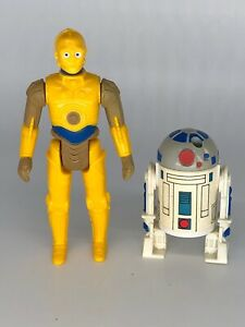 RARE! 1985 Vintage Star Wars DROIDS CARTOON C-3PO R2-D2 POP Up Action Figures