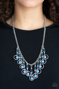 Cool Cascade Blue Necklace By: Paparazzi