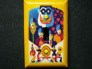 Decorative Light Switch Covers-Decoupage-THE BEATLES SGT Pepper - MadeToOrder