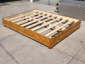 BRAND NEW HAND MADE SOLID WOOD PLATFORM BED BEDFRAME BED FRAME SHOWN QUEEN SIZE