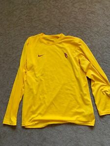 USC Trojans Nike Football Shirt XL Team Issued Dri Fit Long Sleeve $250.00
