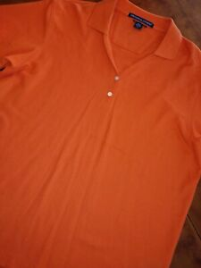 Devon amp; Jones Mens Pima Pique Short Sleeve Polo Sport Shirts Knits XL ORANGE $19.99