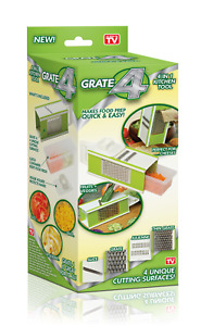 Grate 4 - 4 Sided Box Grater and Slicer Set with storage container