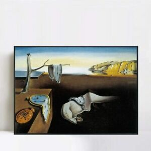 Framed Canvas Giclee Print Art The Persistence of Memory 1931 by Salvador Dali $79.99