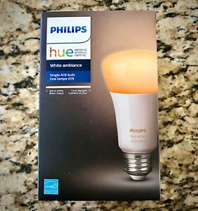 Brand New Philips Hue White Ambiance A19 Single Bulb