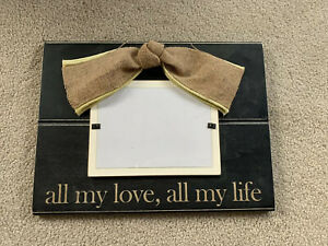 All My Love All My Life Frame for 5x7 Photo Wedding Gift Burlap Black Decoration