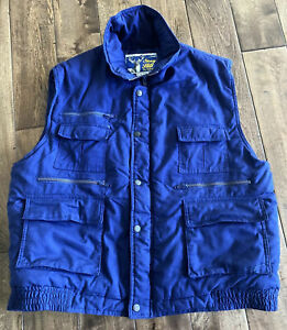 Stag Hill Haband Mens Size Large Blue Fishing Camping Heavy Vest Lots Of Pockets