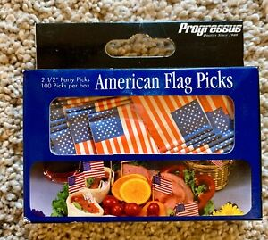 100 American Flag Toothpicks Party Cupcake Decoration Sandwich 2 1/2