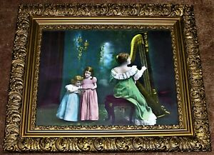 Antique Framed Joseph Hoover and Sons Chromolithograph - Circa Early 1900's