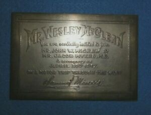 Unique Sterling Silver Invitation Medal Dated 1917 For A Car Trip In The West. $995.00