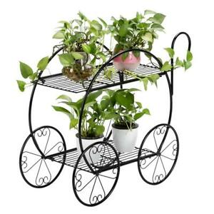 Metal Outdoor Indoor Pot Plant Stand Garden Decor Flower Rack Wrought Iron US $32.99