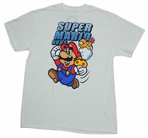 Super Mario Brothers Mens T shirt Running Mushroom Carrying Under Logo $18.99