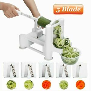 Vegetable Spiralizer Veggie Zucchini Spiral Slicer Food Noodle Maker Cutter US