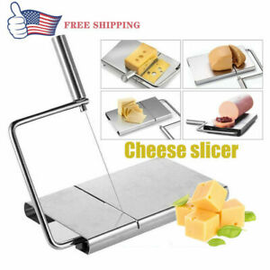CHEESE BUTTER SLICER BUTTER CUTTER BOARD KITCHEN HAND TOOL STAINLESS STEEL 5WIRE