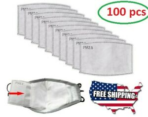 ✅ 100PCS Of PM2.5 Filter Carbon Breathing Insert Protective Pad Gasket NEW !!!