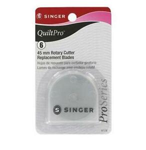 New Singer QuiltPro Six 6 of 45mm Rotary Cutter Replacement Blades $17.99