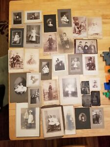 Antique Portraits Early 1900s Late 1800s Photograph Lot Woman Baby Family Bamp;W $74.95