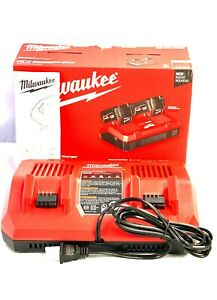 Milwaukee 48 59 1802 M18™ Dual Bay Simultaneous Rapid Charger NEW SEALED