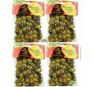{4 Pack} Trader Joe's MARINATED OLIVE DUO w/ Lemon & Herbs Greek 8.8 Oz