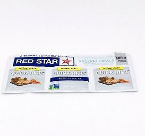 RED STAR Instant QUICK RISE Yeast 1 STRIP of 3 PACKETS (7g) 1/4 oz ea For Bread