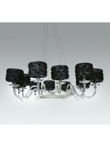 Modern Chandelier Design White Crystal With Shades Tp 212-SP-12-21