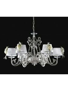 Modern Chandelier Design Wood White Crystal Shades Tp 169-LA-6-13