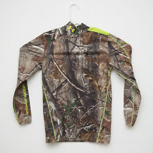 UNDER ARMOUR Mens Real Tree cold gear Compression Camo Camouflage Shirt L $32.99