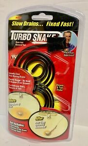 TURBO SNAKE Drain Hair Removal Tool - Brand New SEALED-As seen on TV
